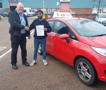 A good pass for Anil with our instructor Michael!