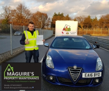 A trailer tow pass for Maguire´s Property Maintenance!
